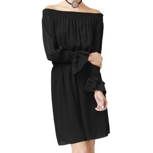 Kobi Zena Off-The-Shoulder Blouson Dress- ChicEwe